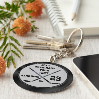 Personalized Cheap Hockey Gifts and Hockey Favors Keychain
