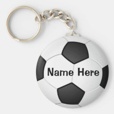 Personalized Cheap Soccer Gifts For Girls & Boys Keychain at Zazzle
