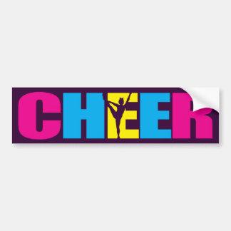 Personalized Cheer Cheerleading Purple Bumper Sticker