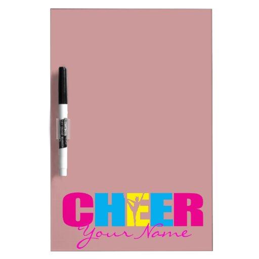 Personalized Cheer Cheerleading Purple Dry Erase Whiteboards