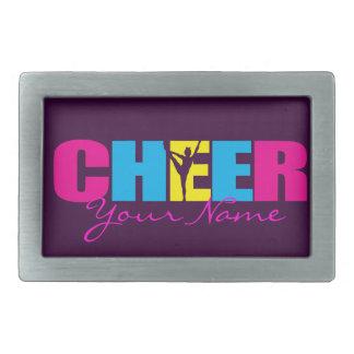 Personalized Cheer Cheerleading Purple Rectangular Belt Buckle