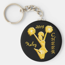 Personalized Cheer Keychains with NAME and YEAR