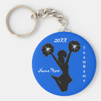 Personalized Cheer Squad Gifts with 3 Text Boxes Keychain