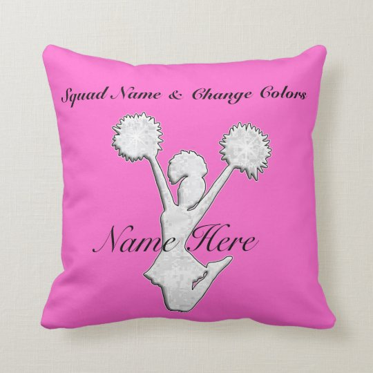 Personalized Cheer Team Gift Ideas Throw Pillow Zazzlecom