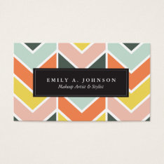 Personalized | Cheerful Chevron By Origami Prints Business Card at Zazzle