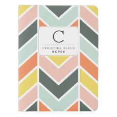 Personalized | Cheerful Chevron Extra Large Moleskine Notebook