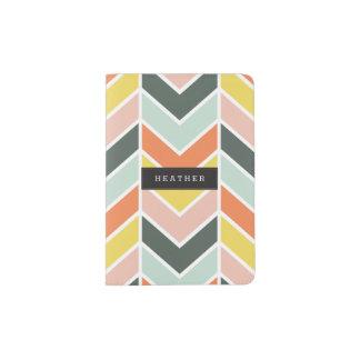 Personalized | Cheerful Chevron Passport Holder
