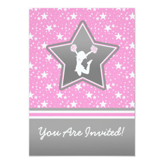 Personalized Cheerleader Among the Stars Card