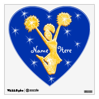 Personalized Cheerleader Wall Decals