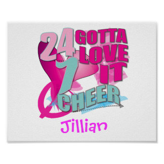 Personalized CHEERLEADING Gifts Posters