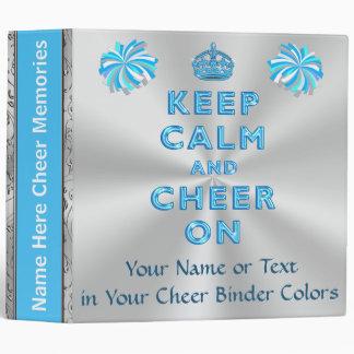Personalized Cheerleading Scrapbook Turquoise 3 Ring Binder