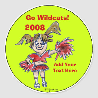 Personalized Cheerleading Sticker