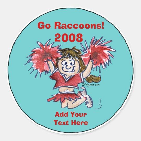 Personalized Cheerleading Sticker 2