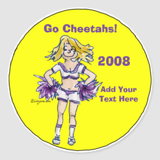 Personalized Cheerleading Sticker 4