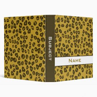 Personalized Cheetah Print School Binder