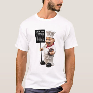 Personalized Chef cook - template food menu card T-Shirt