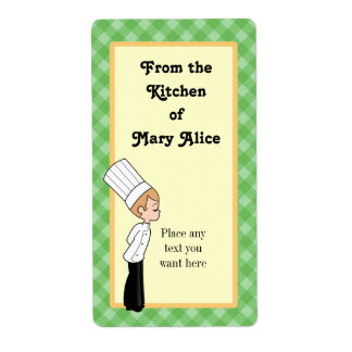 Personalized Chef Large Label #1