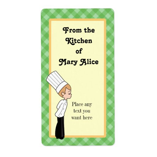 Personalized Chef Large Label #1 Shipping Label