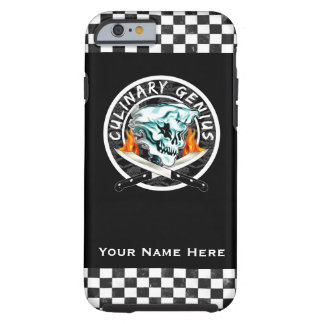 Personalized Chef Skull: Culinary Genius iPhone 6 Case