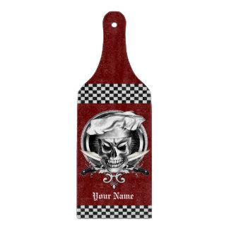 Personalized Chef Skull Cutting Board
