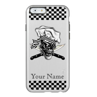Personalized Chef Skull with Crossed Knives Incipio Feather® Shine iPhone 6 Case