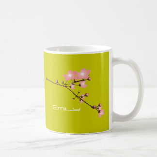 Personalized Cherry Blossom Classic White Mug