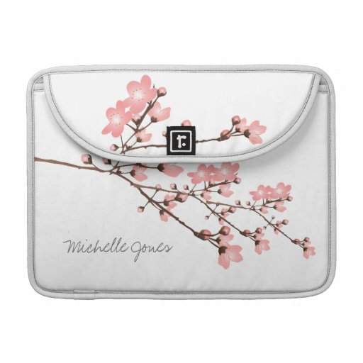 """Personalized Cherry Blossom Macbook Pro 13"""" Sleeves For MacBooks"""
