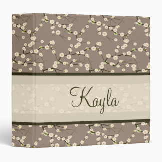 Personalized Cherry Blossom Organizer Binder