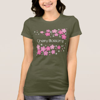 Personalized Cherry Blossoms Women's Shirts