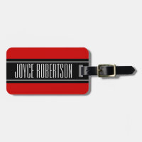 Personalized Cherry red travel luggage tag