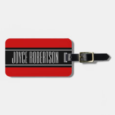 Personalized Cherry Red Travel Luggage Tag at Zazzle