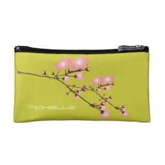 Personalized CherryBlossom Small Cosmetic Bag Makeup Bags