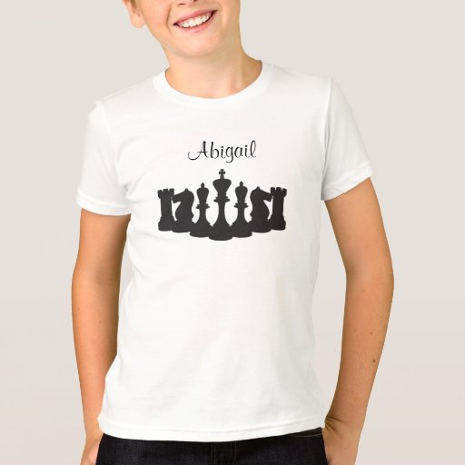 Personalized chess t shirt for kids zazzle for Custom kids t shirts
