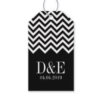 Personalized chevron print wedding favor gift tags