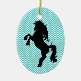 Personalized Chevron Silhouette Horse Ornament