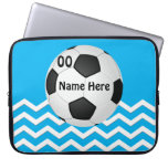 Personalized Chevron Soccer Laptop Cases for Girls Computer Sleeve