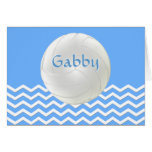 Personalized Chevron Volleyball Note Cards