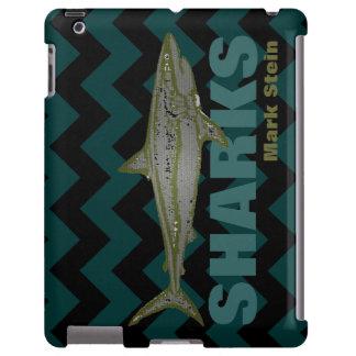 personalized chevron wild shark