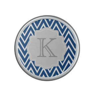 Personalized Chevron Zigzag Monogram Speaker