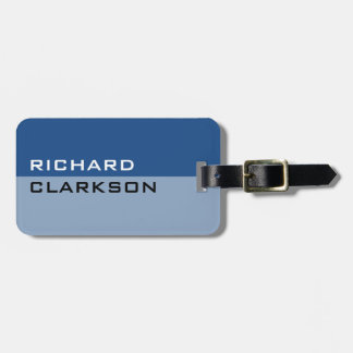 Personalized chic blue travel luggage tag for men
