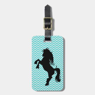 Personalized Chic Chevron Horse Luggage Tag