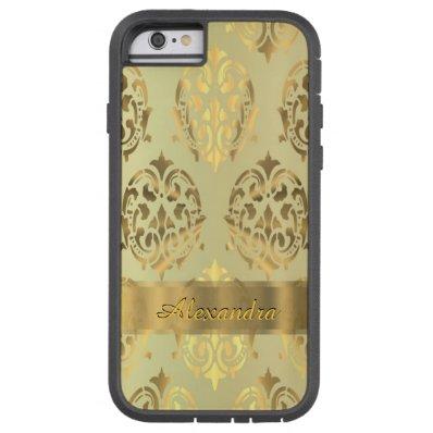 Personalized chic elegant golden damask tough xtreme iPhone 6 case