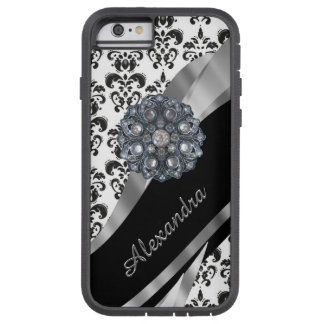 Personalized chic girly vintage damask tough xtreme iPhone 6 case
