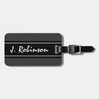 Personalized chic luxury design travel luggage tag