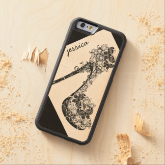 Personalized Chic Modern Floral High Heel Pump Carved® Maple iPhone 6 Bumper