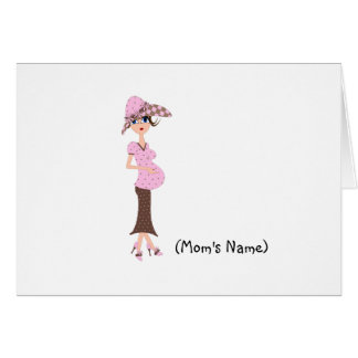 Personalized Chic Mom/Pregnant Woman Stationery Greeting Card