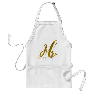 Personalized Chic Mr. and Mrs. Aprons Gift Set
