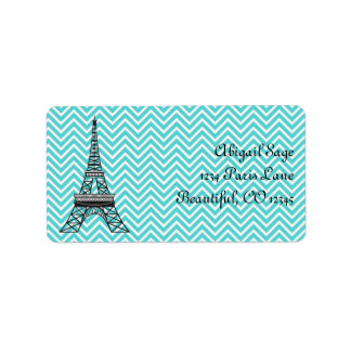 Personalized Chic Paris Eiffel Tower Address Label