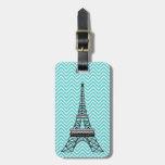 Personalized Chic Paris Eiffel Tower Luggage Tag