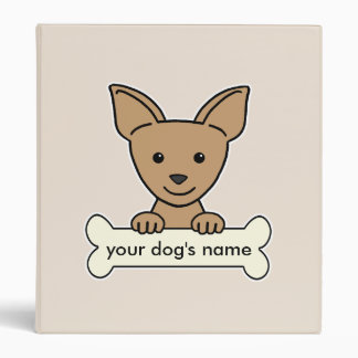 Personalized Chihuahua 3 Ring Binder